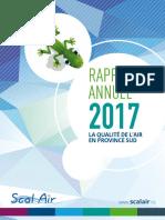 Rapport d'activités de Scal'air pour 2017