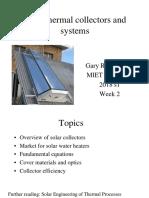 Week2 2018s2 Solar Collectors