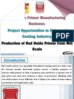 Red Oxide Primer Manufacturing Business
