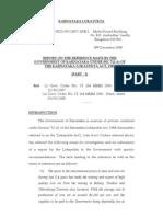 Report  of KARNATAKA LOKAYUKTA into Allegations of Illegal Mining