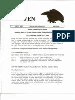 March 2001 Raven Newsletter Juneau Audubon Society