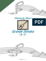 Grande Sonata Op 12 by Antoine de Lhoyer