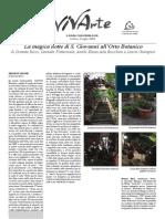 La magica notte di san Giovanni all'Orto Botanico - Urbinovivarte.com, 3 luglio 2018