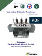 10kV & 20kV Dual Voltage Tranformer Catalog