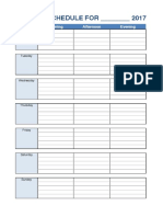 Weekly Agenda Template Paper