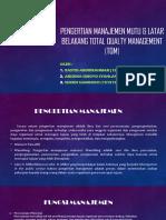Pengertian Manajemen Mutu & Latar Belakang Total Qualty