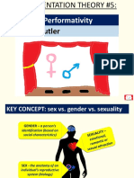 Gender Performitivity Judith Butler (Representation Theory 5)
