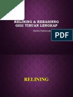 Relining, Rebasing Blok 19