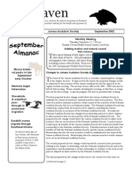 September 2002 Raven Newsletter Juneau Audubon Society