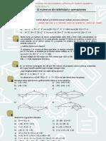 Ejercicios t1 y t2 Numeros Divisibilidad y Operaciones