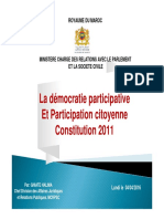 La Démocratie Participative Et Participation Citoyenne Constitution 2011 (1)