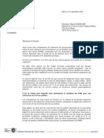 Courrier FNTP à Gérald Darmanin Gnr