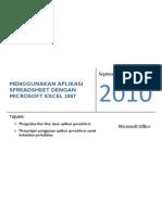 Menggunakan Aplikasi Spreadsheet Dengan Microsoft Excel 2007 - 27 September 2010
