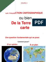 COURS La Projection Cartographique
