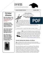 October 2003 Raven Newsletter Juneau Audubon Society