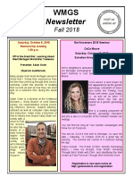 WMGS Fall 2018 Newsletter