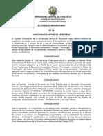 Ucv- Pronunciamiento Consejo Universitario 19-09-2018