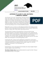 May 2004 Raven Newsletter Juneau Audubon Society