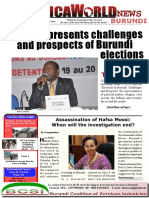 Africaworld News Burundi Bullettin 5th Issue July 28th to August12th 2016 New