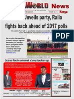 Africaworld News Journal Kenya 6th Issue 7th to 22nd August 2016