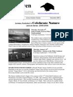 December 2005 Raven Newsletter Juneau Audubon Society