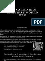 Caligari and ww1