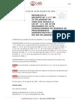 Decreto 13150 1994 Rio de Janeiro RJ