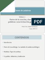 Tema1_clases de Palabras