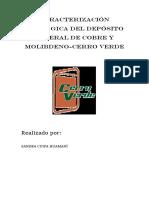 Informe de Yacimientos Cerro Verde