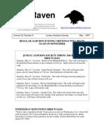 May 2007 Raven Newsletter Juneau Audubon Society