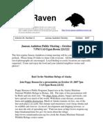 October 2007 Raven Newsletter Juneau Audubon Society