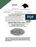 April 2008 Raven Newsletter Juneau Audubon Society