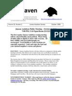 October 2008 Raven Newsletter Juneau Audubon Society
