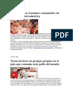 Panamá Ya Es El Primer Consumidor de Pollo de Centroamérica