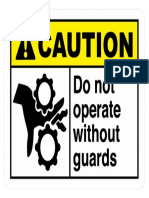 Do Not Operate Without Gear