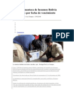 Analizan Manteca de Insumos Bolivia Ante Dudas Por Fecha de Vencimiento