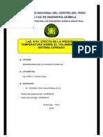 EFECTOS DE LA PRESIÓN TEMPERATURA EN SISTEMAS CERRADOS