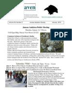 January 2010 Raven Newsletter Juneau Audubon Society