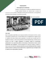 HOLOCAUSTO - 1933 -1938