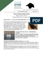 April 2010 Raven Newsletter Juneau Audubon Society
