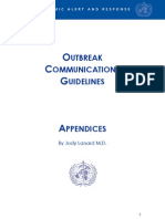 Outbreak Communications Guidelines (OCBD-2) - Appendices