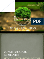 EcoLaw Report - Oposa vs. Factoran