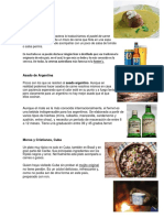 Comidas y Bebidas de Diferentes Paises