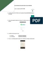 Manual Acceso App Boltrack