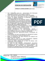 Requisistos de Licencias de edificación