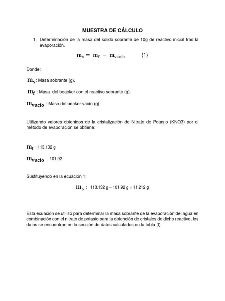 Practica 1 Cristalizacion Prueba1 Docx Cristalización