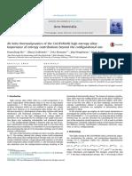 Acta Materialia 100 (2015) 90 Ab Initio Thermodynamics of High Entropy Alloys