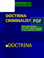 DOCTRINA CRIMINALISTICA