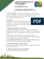 Edital de Artigos - III Cpcj