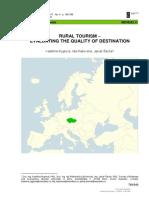 Rural Tourism - Evaluating the Quality of Destinat